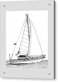 Sailing Sailing Sailing Acrylic Print by Jack Pumphrey