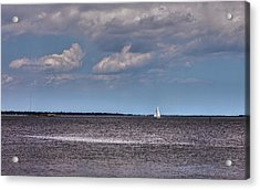 Acrylic Print featuring the photograph Sailing by Sennie Pierson