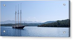 Sailing Ship In The Adriatic Islands Acrylic Print