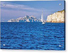Sailing South Of France Acrylic Print by Joan Herwig