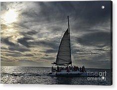 Sailing The Caribbean Acrylic Print by Judy Wolinsky