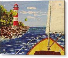 Sailing The Coast Acrylic Print