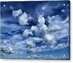 Sailing The Ocean Blue Acrylic Print by Tom Druin