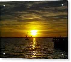 Sailing The Sunset Acrylic Print