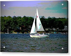 Sailing Acrylic Print by Thomas Fouch