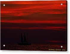 Sailing Through The After Glow Acrylic Print by Richard Zentner