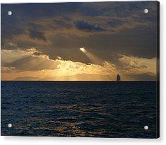 Sailing Through The Life Acrylic Print by Alessio Casula