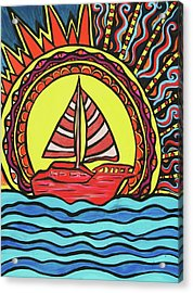 Sailing To The Sun Acrylic Print by Lorinda Fore