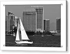 Acrylic Print featuring the digital art Sailing To Work by Kirt Tisdale