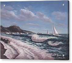 Sailing Toward Point Lobos Acrylic Print