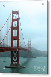 Sailing Under The Golden Gate Bridge Acrylic Print