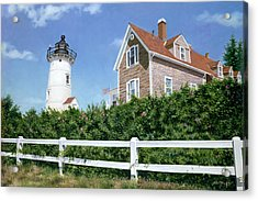 Sailors Gift - Nobska Lighthouse Acrylic Print by Julia O'Malley-Keyes