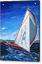 Acrylic Print featuring the painting Sailors by Ray Khalife