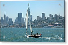 Sailors View Of San Francisco Skyline Acrylic Print by Connie Fox