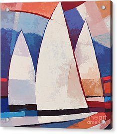 Sails Ahead Graphic Acrylic Print by Lutz Baar