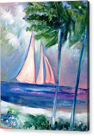 Sails In The Sunset Acrylic Print by Patricia Taylor