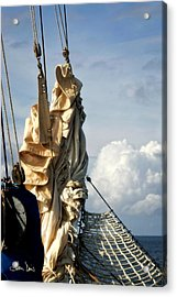 Acrylic Print featuring the photograph Sails by Joan Davis