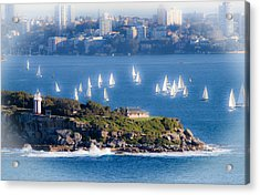 Acrylic Print featuring the photograph Sails Out To Play by Miroslava Jurcik