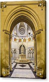 Saint John The Divine Baptistry Acrylic Print by Susan Candelario