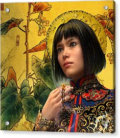 Saint Agatha Lin Zhao Of China Acrylic Print by Suzanne Silvir