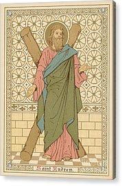 Saint Andrew Acrylic Print by English School