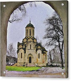 Saint Andronic Monastery In Moscow 3 Acrylic Print