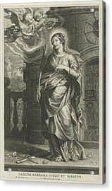 Saint Barbara As Martyr Acrylic Print