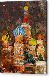 Saint Basil At Night Acrylic Print