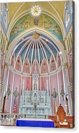 Saint Bridgets Altar Acrylic Print by Susan Candelario