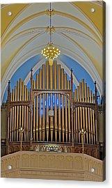 Saint Bridgets Pipe Organ Acrylic Print by Susan Candelario