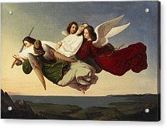 Saint Catherine And Angels Acrylic Print