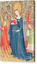 Saint Cecilia Acrylic Print by Flemish School