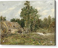 Saint-cenery The Mill Acrylic Print by Eugene Louis Boudin