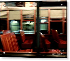 New Orleans Saint Charles Avenue Street Car In New Orleans Louisiana #6 Acrylic Print by Michael Hoard