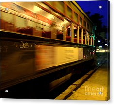 New Orleans Saint Charles Avenue Street Car In  Louisiana #7 Acrylic Print by Michael Hoard