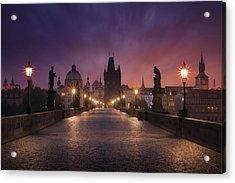 Saint Charles Bridge, Prague Acrylic Print by Inigo Cia