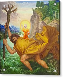 Saint Christopher By Otto Dix Acrylic Print by Roberto Morgenthaler
