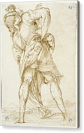 Saint Christopher Domenico Campagnola, Italian Acrylic Print by Litz Collection