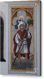 Saint Christopher Mural - Kranj - Slovenia Acrylic Print by Phil Banks