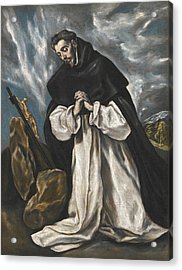 Saint Dominic In Prayer Acrylic Print by El Greco