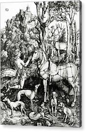 Saint Eustace Acrylic Print by Albrecht Durer or Duerer