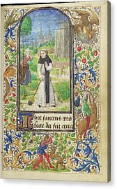 Saint Fiacre And The Shrew Houpdée Becnaude Or Baquenaude Acrylic Print by Litz Collection