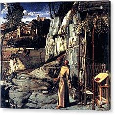 Saint Francis In Ecstasy 1485 Giovanni Bellini Acrylic Print by Karon Melillo DeVega