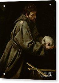 Saint Francis In Meditation Acrylic Print