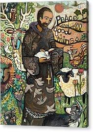 Saint Francis Acrylic Print by Jen Norton