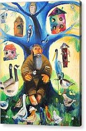 Saint Francis Acrylic Print by Mikhail Zarovny