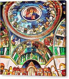 Saint George Above Acrylic Print