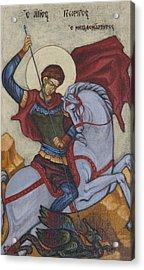 Saint George Agios Georgios Acrylic Print by Sonya Grigorova