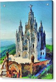 Saint Heart Cathedral Acrylic Print by Yury Malkov