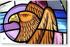 Saint John Eagle  Acrylic Print by Gilroy Stained Glass